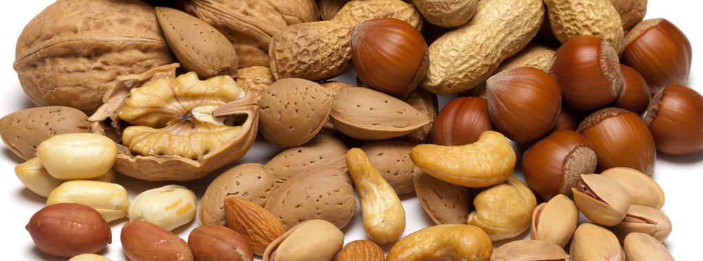 Vers gebrande noten van de beste kwaliteit